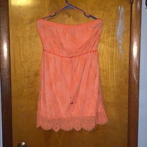 Salmon colored Aeropostale dress